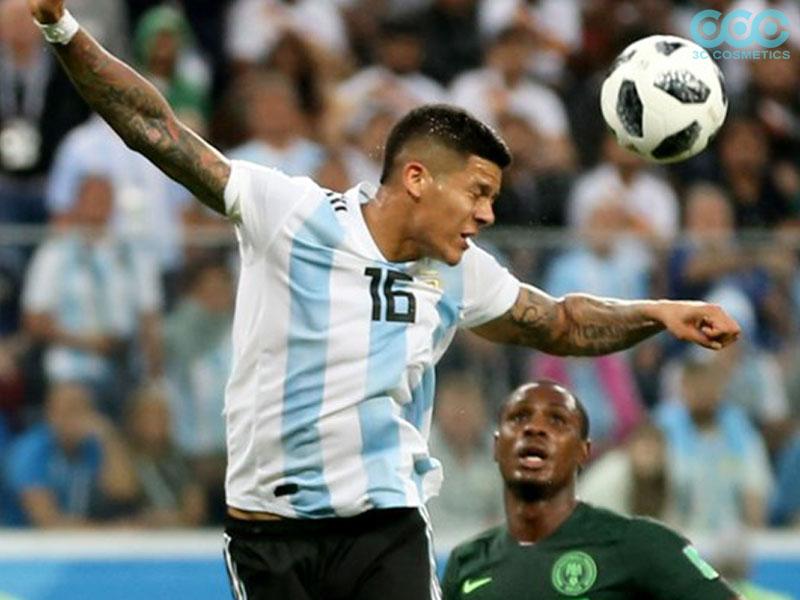 Tình huống Marcos Rojo chạm tay đánh đầu vô tình chạm tay trong vòng cấm địa-World cup 2018