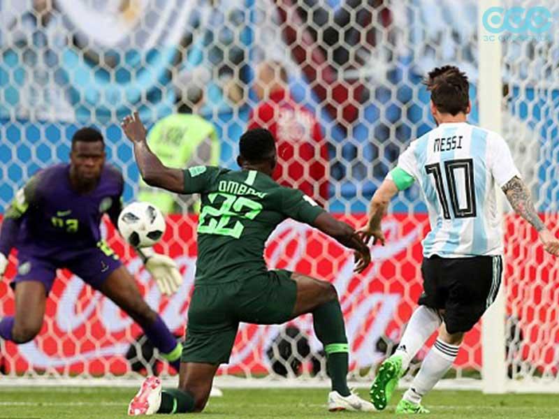 Argentina và Nigeria trải qua 1 trận cầu khá gây cấn và hấp dẫn tới những phút cuối cùng-World cup 2018