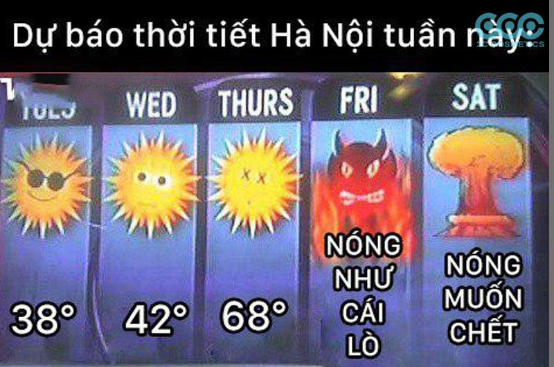 dự báo thời tiết tại Hà Nội tuần này