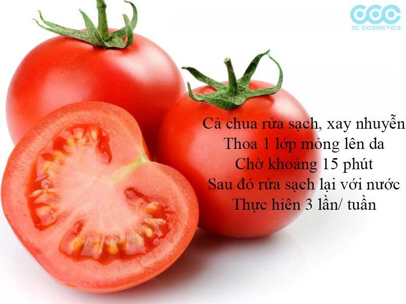 chữa làn da bị cháy nắng bằng cà chua