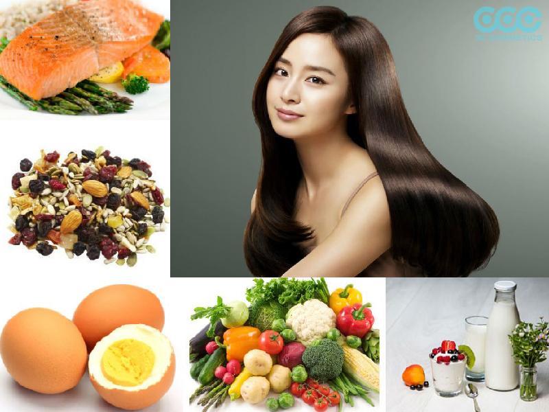 Thực phẩm ngăn rụng tóc từ bên trong