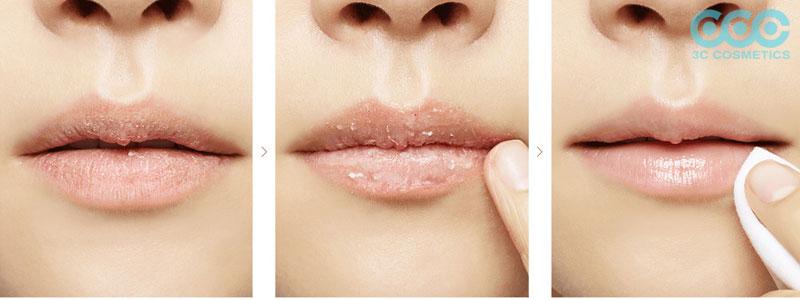 Quên tẩy tế bào chết cho môi