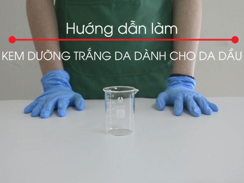 Công thức làm kem dưỡng trắng da dành cho da dầu