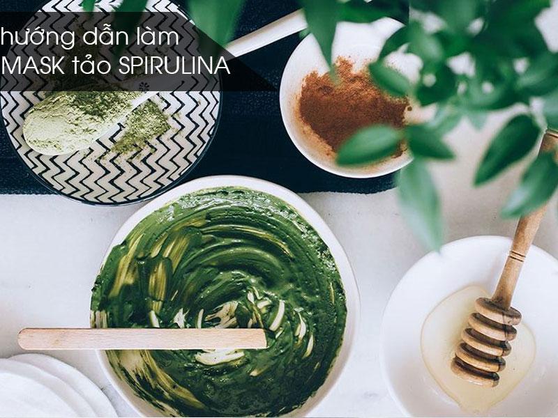Công thức làm mặt nạ tảo Spirulina