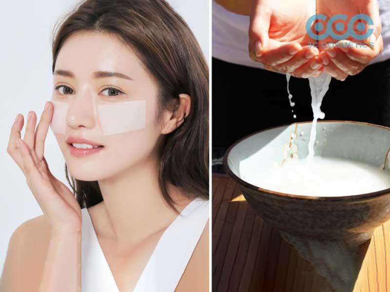 sử dụng nước gạo để chống nắng