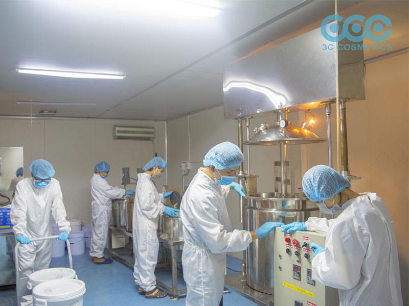 Nhà máy sản xuất mỹ phẩm hiện đại