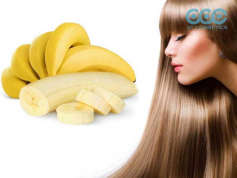 Tóc mọc nhanh dài với chuối