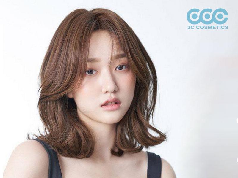 Tóc xoăn lọn không mái Hàn Quốc