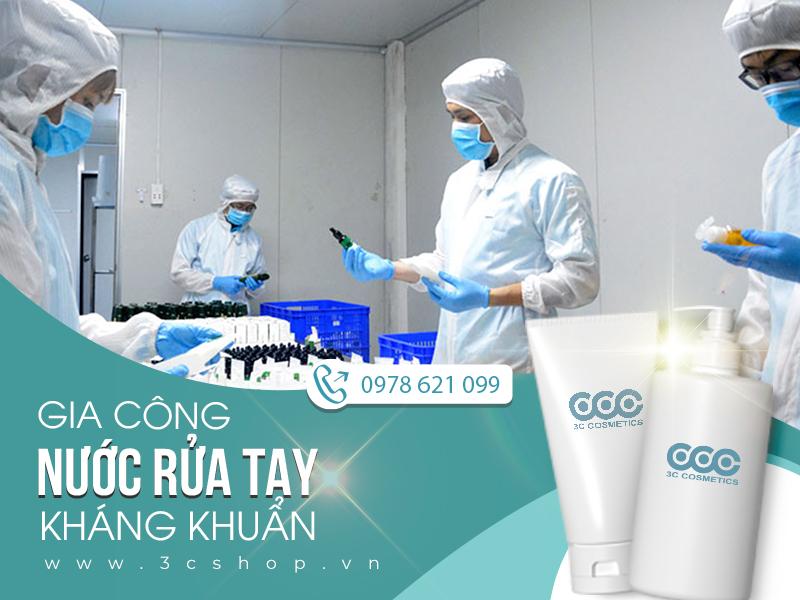 gia công nước/ gel rửa tay khô tại Hà nội
