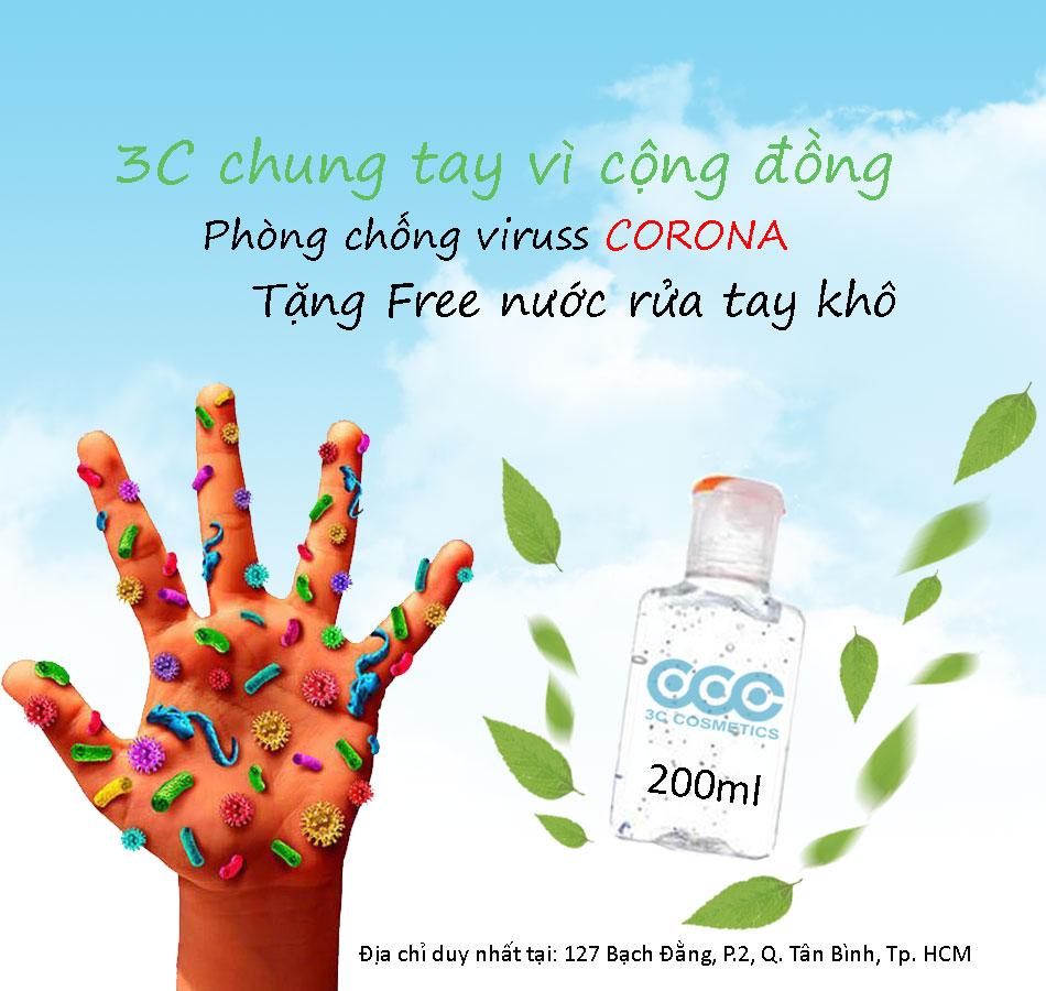 3C Cosmeticstặng miễn phínước rửa tay khô sát khuẩn