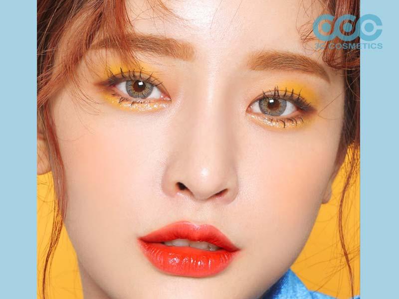 Màu mắt phối màu vàng nắng