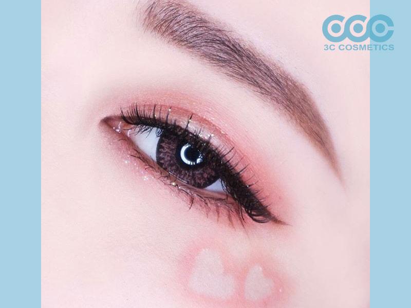 Phối màu mắt hồng đào
