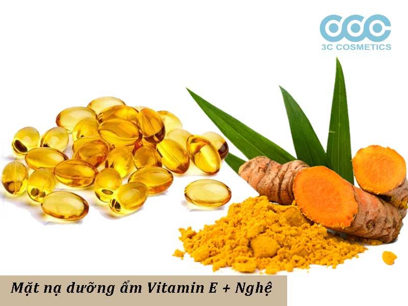 mặt nạ dưỡng ẩm vitamin e cùng với nghệ