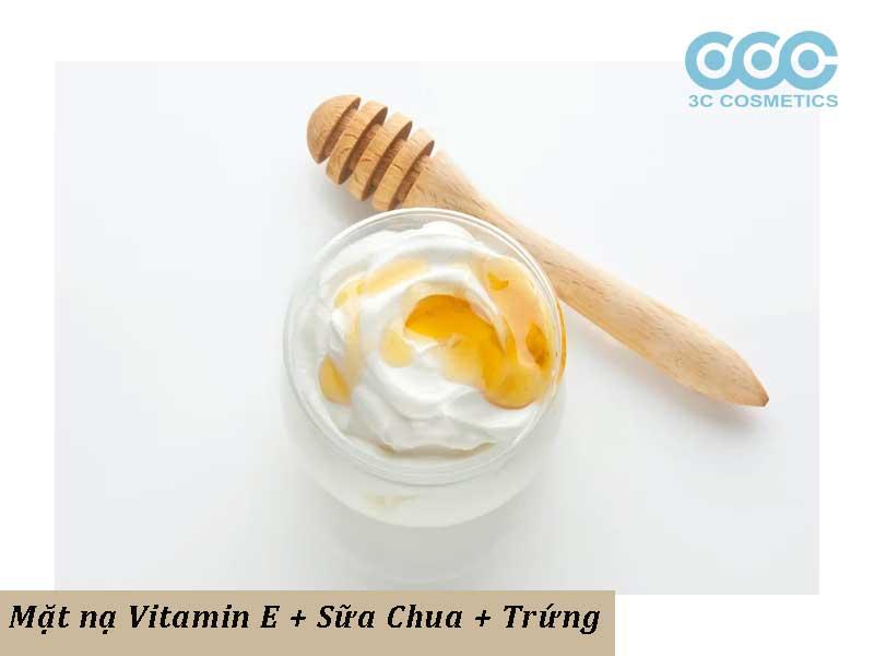 mặt nạ trắng da vitamin e kết hợp cùng trứng sữa chua