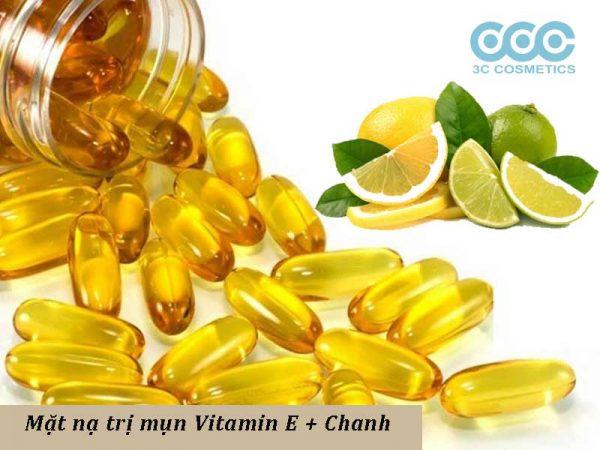 mặt nạ trị mụn vitamin e kết hợp với chanh