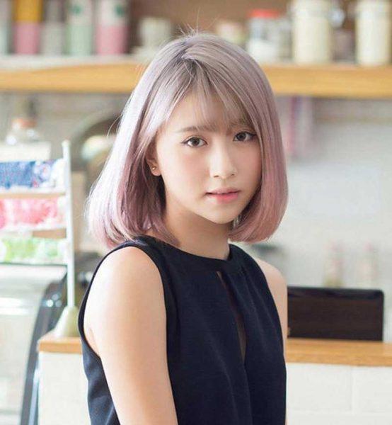 Kiểu tóc hợp với khuôn mặt dài trán cao