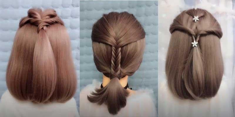 tạo kiểu tết tóc ngắn dễ thương