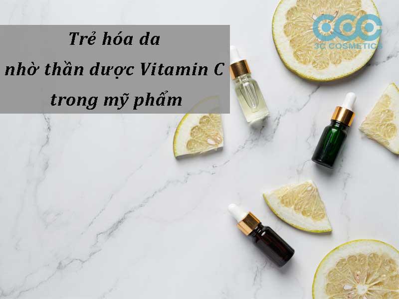 trẻ hóa da nhờ thần dược vitamin c trong mỹ phẩm